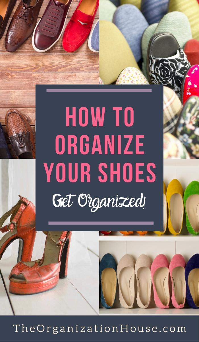 How to Organize Shoes in the Closet - TheOrganizationHouse.com
