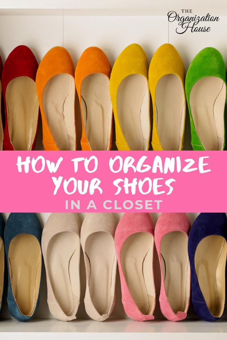 How to Organize Your Shoes in the Closet  - TheOrganizationHouse.com