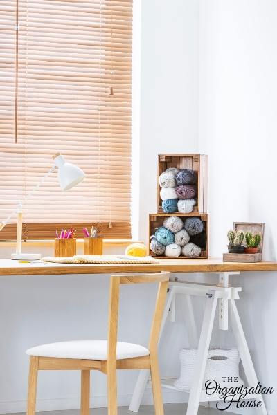 How to Organize a Craft Room - Craft Area Organization for the Home - TheOrganizationHouse.com