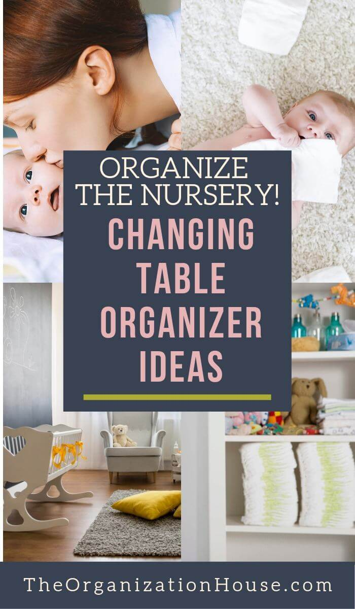 Organize the Nursery! Changing Table Organizer Ideas that Actually Work - TheOrganizationHouse.com