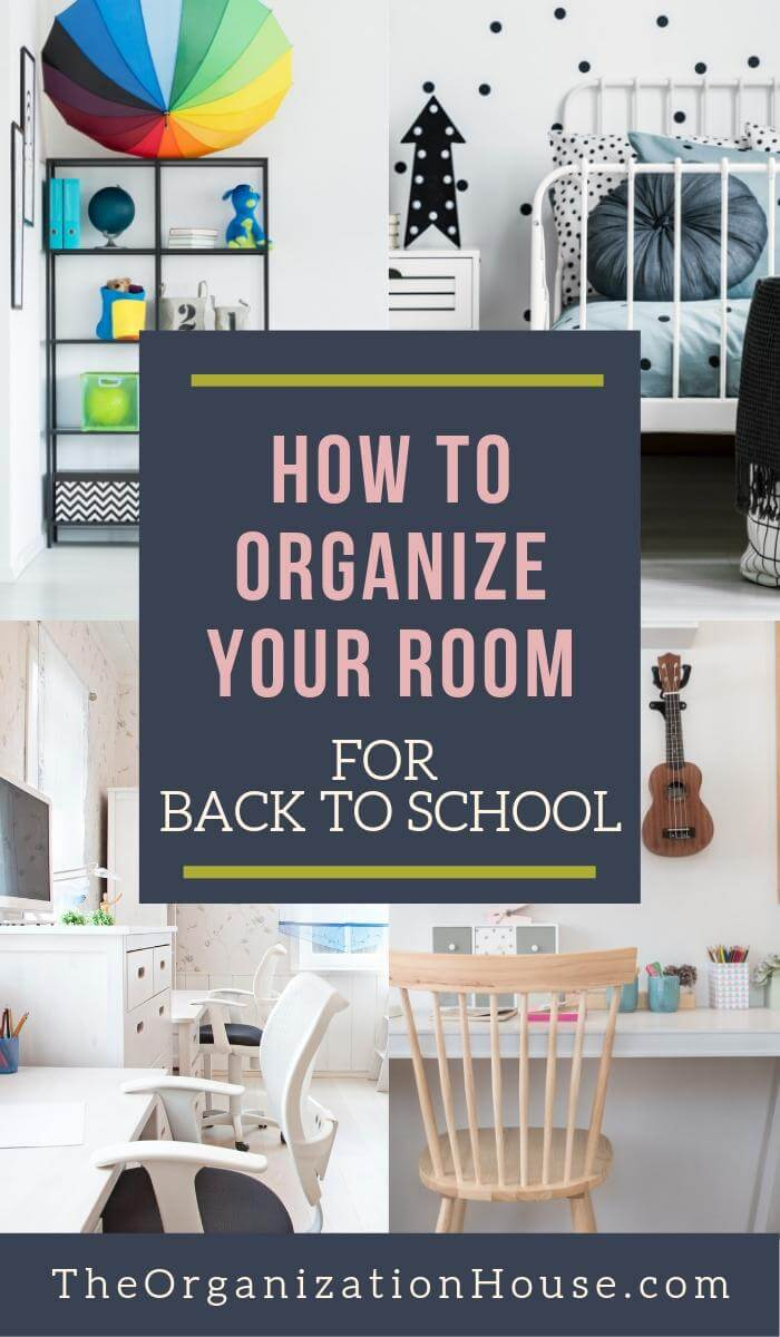 Organizing Your Bedroom for Back to School - TheOrganizationHouse.com