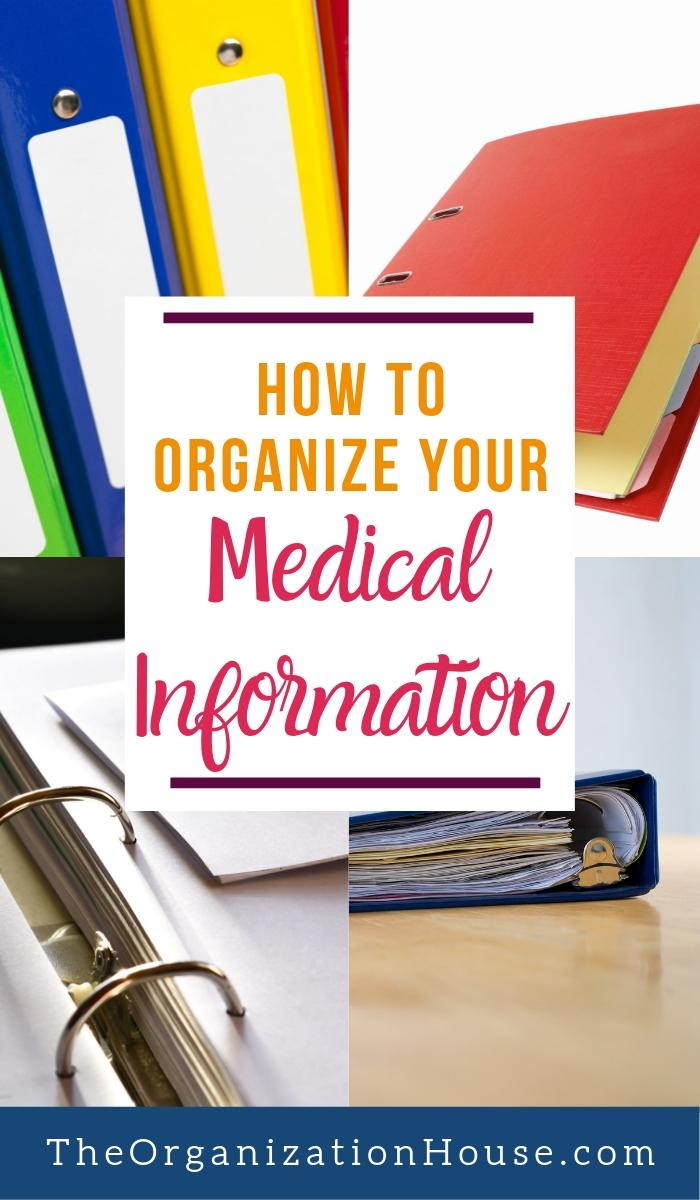 Creating a Personal Medical Notebook - How to Organize Your Medical Information  - TheOrganizationHouse.com