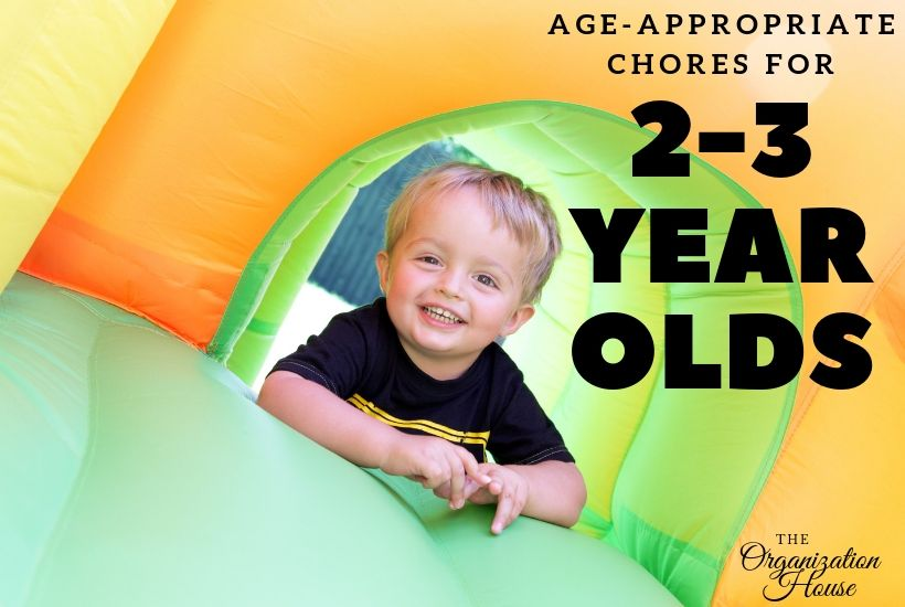 Age-Appropriate Chores for 2-3 Year Olds - TheOrganizationHouse.com