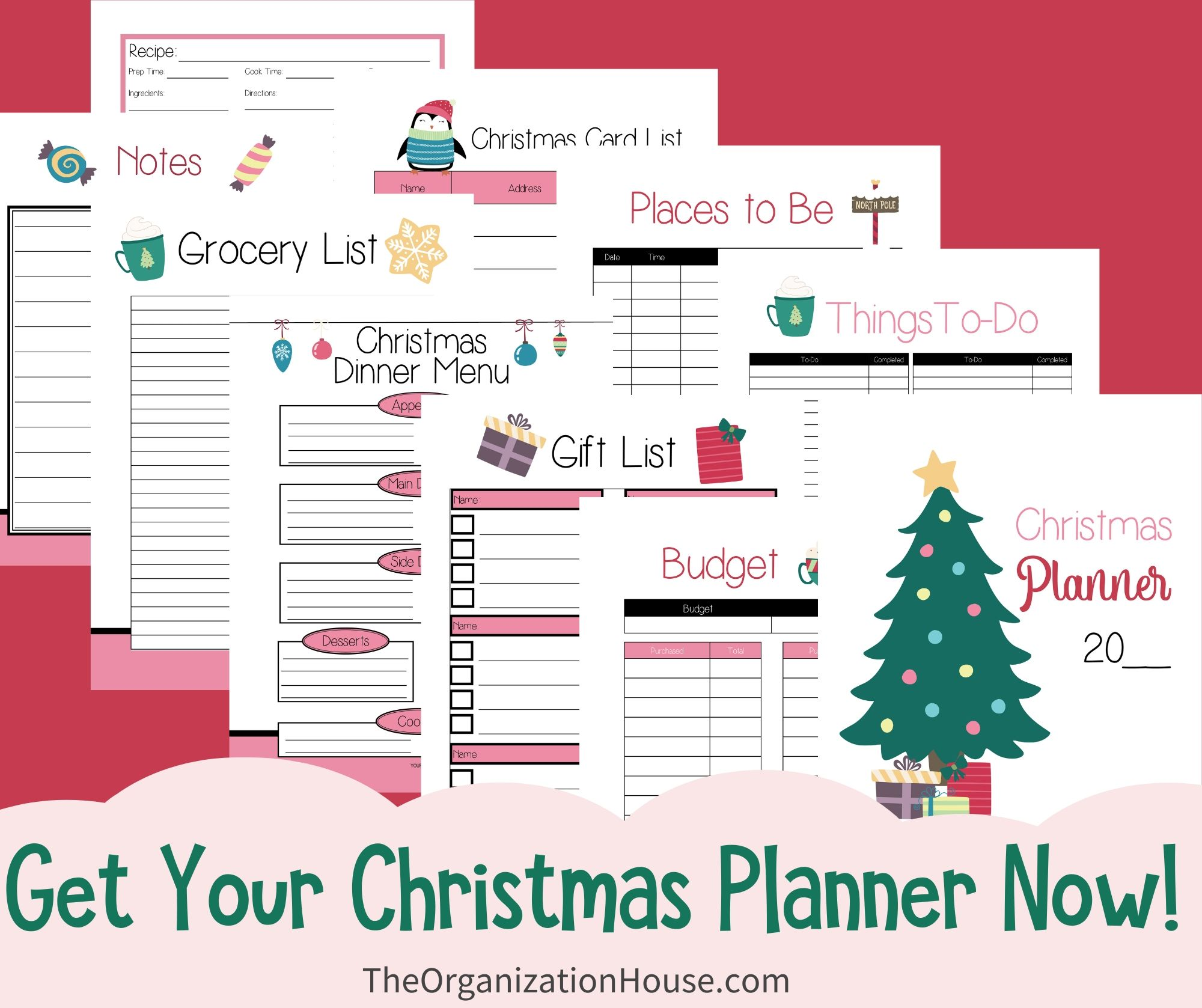 Get Your Christmas Planner Now for an Organized Christmas! - TheOrganizationHouse.com