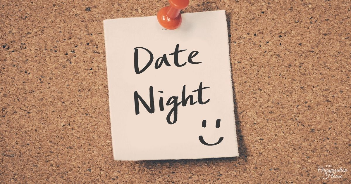 25 At Home Date Night Ideas for When You Have to Stay at Home -TheOrganizationHouse.com