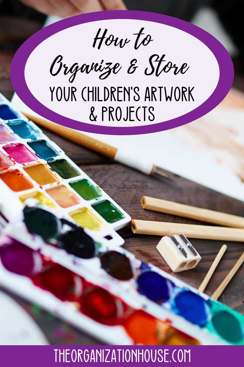 How to Organize and Store Your Children's Artwork and Projects